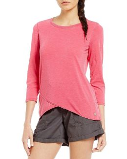 Performance Distress Wash Knit Jersey Hi-low Hem Tunic