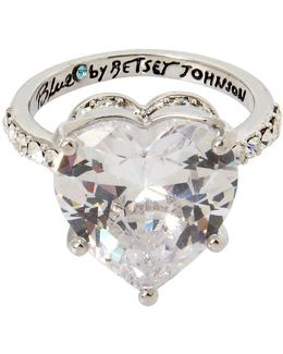 Blue By Cubic Zirconia Heart Ring
