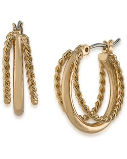 Perfect Pieces Twisted Triple-hoop Earrings
