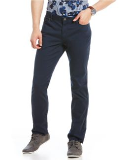 Slim-fit 5-pocket Stretch Twill Pants