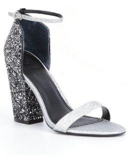 Bam Bam3 Glitter Block-heel Dress Sandals