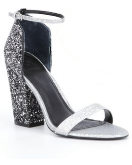 Bam Bam3 Glitter Block-heel Dress Sandals