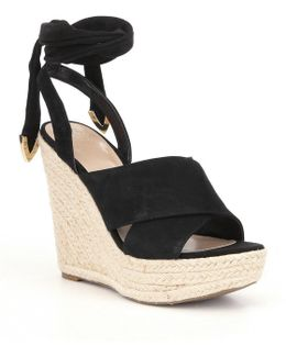 Oshira Espadrille Ankle Tie Wedge Sandals