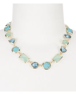 Turquoise Stone Collar Necklace