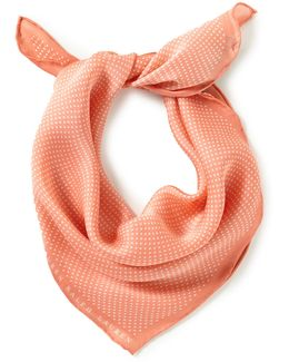 Solange Dotted Silk Square Scarf