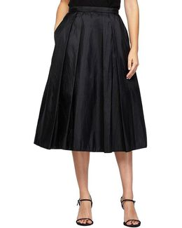 Petite Taffeta Midi Skirt