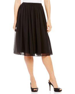 Petite Midi Chiffon Skirt