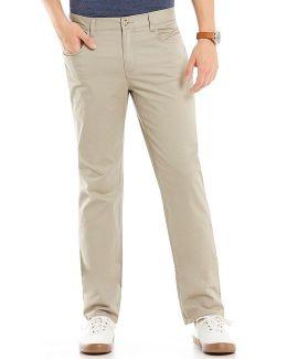 Slim-fit P55 Twill Flat-front Stretch 5-pocket Pants