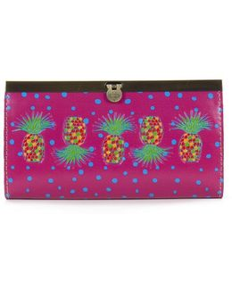 Polka Dot Pineapple Collection Cauchy Wallet