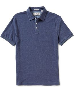Slub Plaited Short-sleeve Polo Shirt