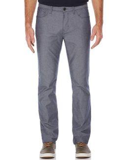 Slim-straight Lightweight Broken Twill Pants