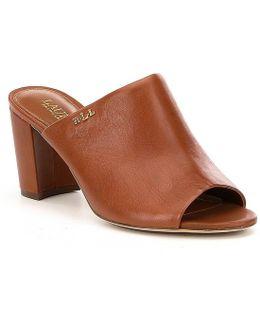 Harlowe Leather Dress Mules