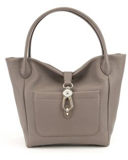 Belvedere Collection Logo Lock Tote