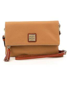 Pebble Collection Fold-over Zip Cross-body Bag