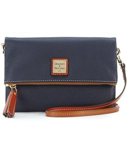 Pebble Collection Fold-over Zip Cross-body Bag