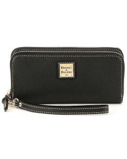 Pebble Collection Double-zip Wallet