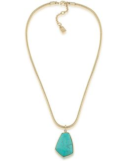 Turquoise & Caicos Pendant Necklace