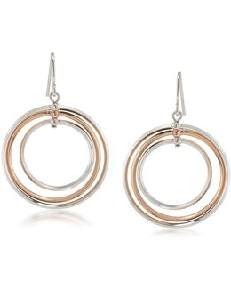 Stereo Hearts Triple-hoop Drop Earrings