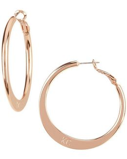 Logo Knife Edge Hoop Earrings