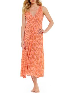 Pink Label Dotted Challis Nightgown