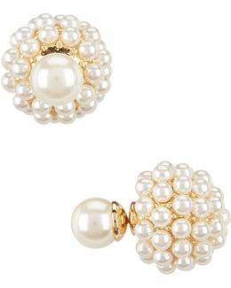 Faux-pearl Front/back Earrings