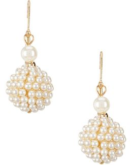 Faux-pearl Drop Earrings