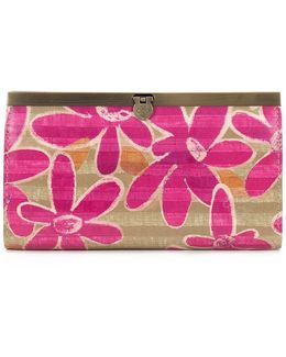 Striped Daisy Collection Cauchy Wallet