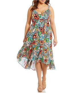 Plus Kisha Printed Maxi Dress
