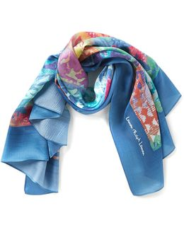 Paloma Paisley Hammered Silk Square Scarf