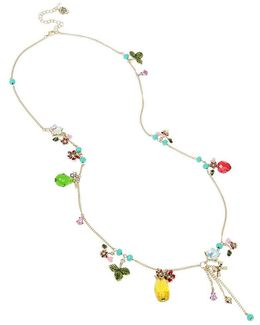 Tropical Fruit Charm Long Necklace