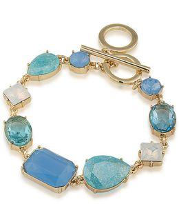 Crackled Stones Toggle Bracelet