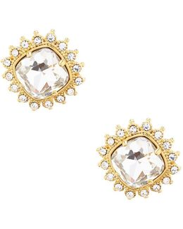 Clipped To Perfection Cushion-cut Clip-on Earrings