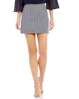 Rico Striped Mini Skirt