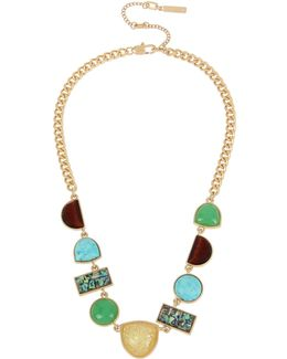 Geometric Stone Frontal Necklace