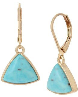 Geometric Turquoise Drop Earrings