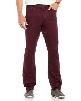 Slim-fit Sateen 5-pocket Chino Pants