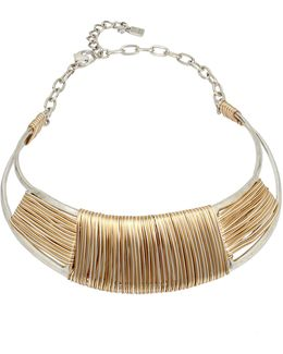 Wire-wrapped Sculptural Collar Necklace