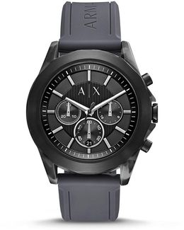 Ax Chronograph & Date Silicone-strap Watch