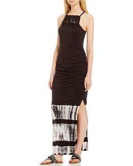 Tessanne Macrame Tie-dye Border-hem Maxi Dress