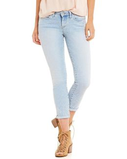 Forever Rolled Stretch Denim Skinny Jeans