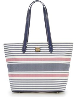 Westerly Collection Striped Large Zip Shopper
