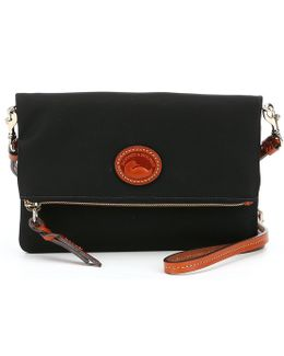 Nylon Collection Fold-over Zip Cross-body Bag
