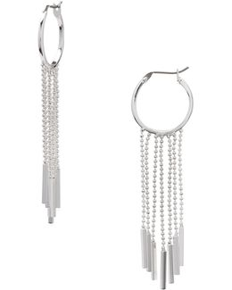 Chain-fringed Hoop Earrings