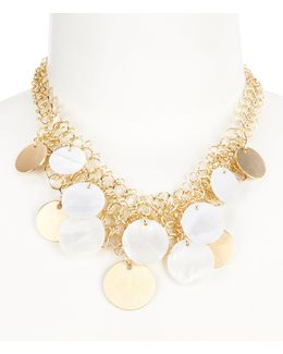 Mother-of-pearl Shaky Disc Frontal Necklace