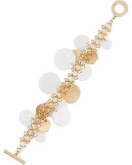 Mother-of-pearl Shaky Disc Toggle Bracelet