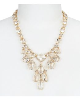 Crystal Cascade Statement Necklace