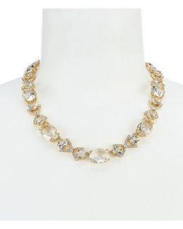 Crystal Cascade Collar Necklace