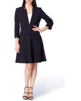 Bi-stretch A-line Skirt Suit