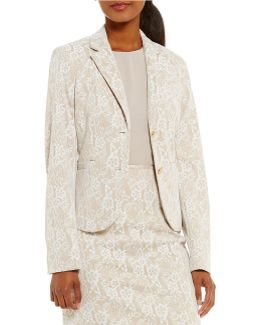 Bonded Lace Jacquard Two-button Jacket