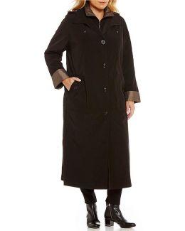 Plus Long Detach Hood Rain Coat